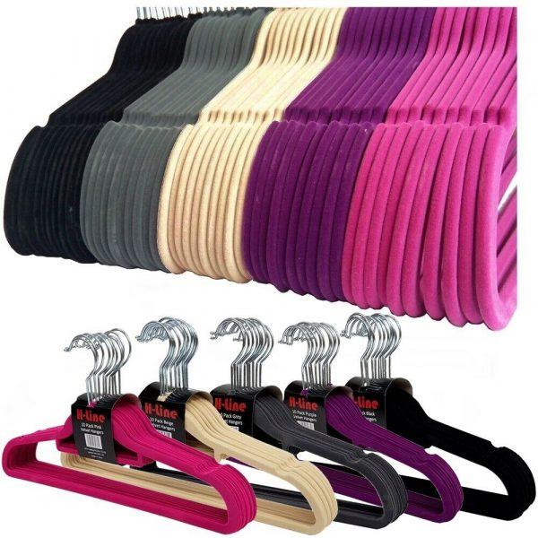 Flocked Velvet Clothes Hangers