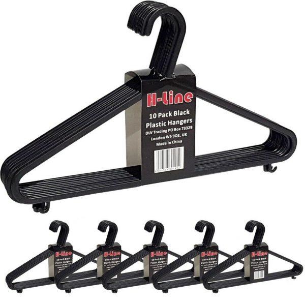 Black Plastic Coat Hangers