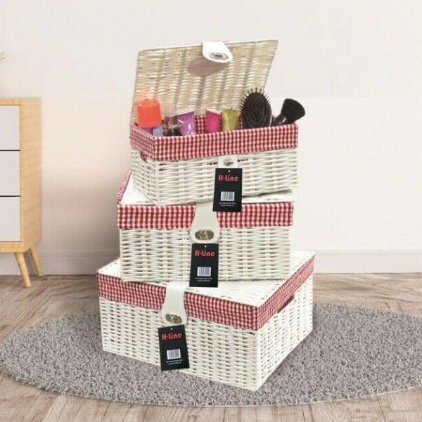Wicker Storage Baskets With Lids